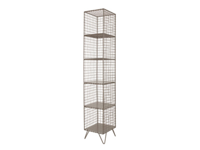 Free-standing metal Highwire shelving and storage shelves