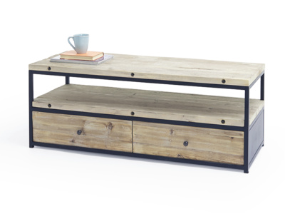 Industrial reclaimed wooden Hercule TV stand