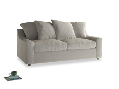Medium Cloud Sofa Bed in Smoky Grey clever velvet