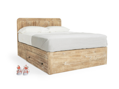 Kingsize Woody Storage Bed in Reclaimed Fir
