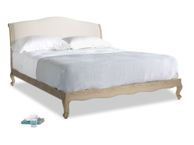 Superking Coco Bed in Natural cotton linen mix