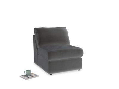 Chatnap Storage Single Seat in Steel clever velvet