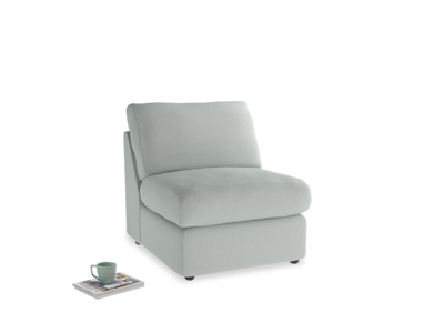 Chatnap Storage Single Seat in French blue brushed cotton