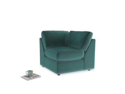 Chatnap Corner Unit in Real Teal clever velvet