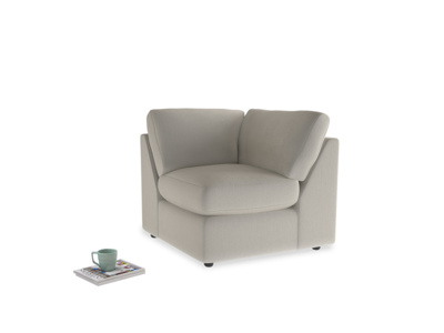 Chatnap Corner Unit in Smoky Grey clever velvet