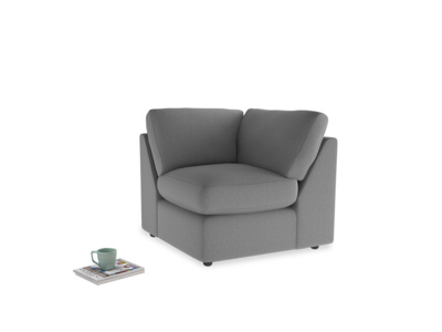 Chatnap Corner Unit in Gun Metal brushed cotton