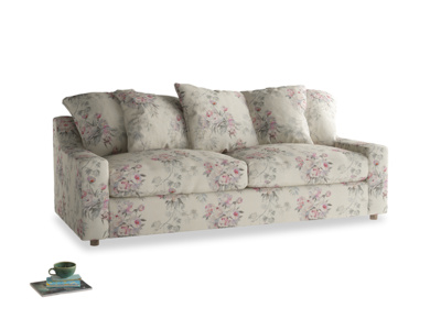 Large Cloud Sofa Bed in Pink vintage rose