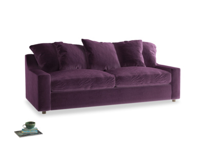 Large Cloud Sofa Bed in Grape clever velvet