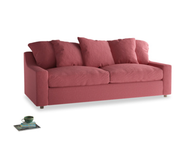 Large Cloud Sofa Bed in Raspberry brushed cotton