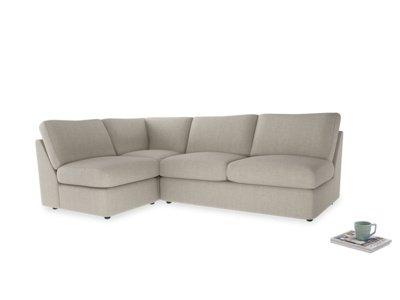 Large left hand Chatnap modular corner sofa bed in Thatch house fabric