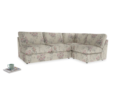 Large right hand Chatnap modular corner sofa bed in Pink vintage rose