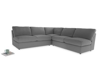 Even Sided  Chatnap modular corner storage sofa in Gun Metal brushed cotton