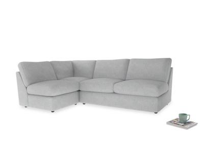 Large left hand Chatnap modular corner storage sofa in Pebble vintage linen