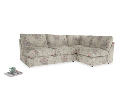 Large right hand Chatnap modular corner storage sofa in Pink vintage rose