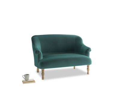 Small Sweetie Sofa in Real Teal clever velvet