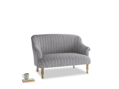 Small Sweetie Sofa in Brittany Blue french stripe