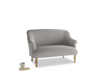 Small Sweetie Sofa in Wolf brushed cotton