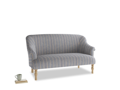Medium Sweetie Sofa in Brittany Blue french stripe