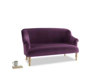 Medium Sweetie Sofa in Grape clever velvet