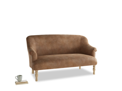 Medium Sweetie Sofa in Walnut beaten leather