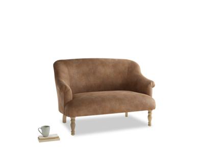 Small Sweetie Sofa in Walnut beaten leather