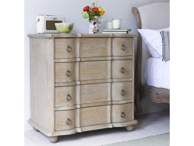 French antique style Otterley bedroom chest of drawers in oak