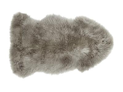 Sheepskin grey small fur fluffy Nuzzler rug