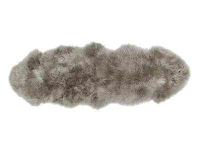 Sheepskin grey small fur fluffy Nuzzler runner