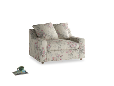 Cloud love seat sofa bed in Pink vintage rose