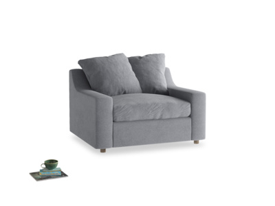 Cloud love seat sofa bed in Dove grey wool