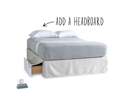 Space divan storage bed with valance