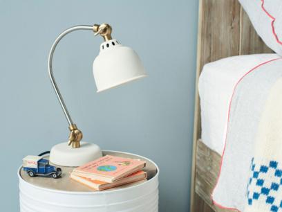 Small white Mini Gaston table lamp
