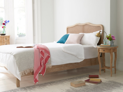 Beautiful Margot bed in a french rattan style