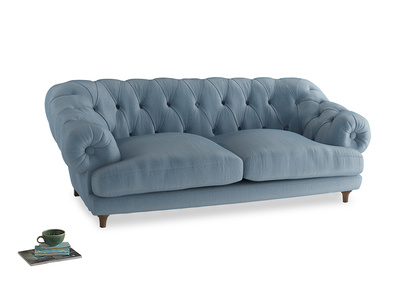 Large Bagsie Sofa in Chalky blue vintage velvet