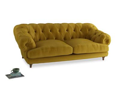 Large Bagsie Sofa in Burnt yellow vintage velvet