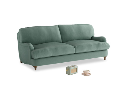 Medium Jonesy Sofa in Sea blue vintage velvet