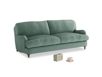Medium Jonesy Sofa in Sea blue vintage velvet