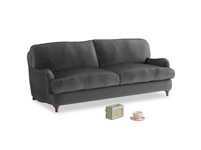Medium Jonesy Sofa in Scuttle grey vintage velvet