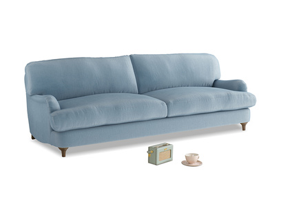 Large Jonesy Sofa in Chalky blue vintage velvet