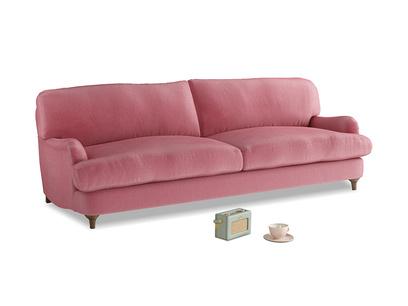 Large Jonesy Sofa in Blushed pink vintage velvet