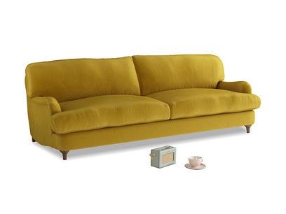 Large Jonesy Sofa in Burnt yellow vintage velvet