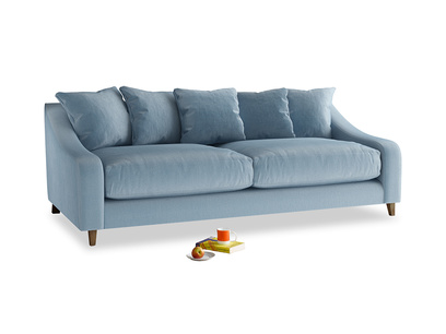 Large Oscar Sofa in Chalky blue vintage velvet