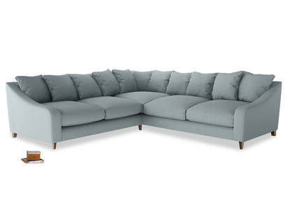 Even Sided Oscar Corner Sofa  in Quail's egg clever linen