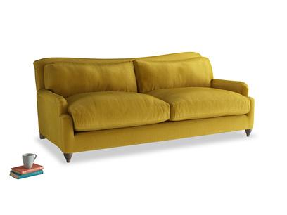 Large Pavlova Sofa in Burnt yellow vintage velvet