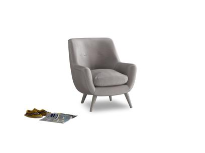 Berlin Armchair in Soothing grey vintage velvet