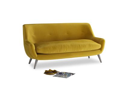Medium Berlin Sofa in Burnt yellow vintage velvet