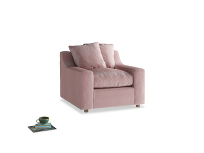 Cloud Armchair in Chalky Pink vintage velvet