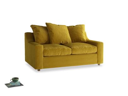 Small Cloud Sofa in Burnt yellow vintage velvet