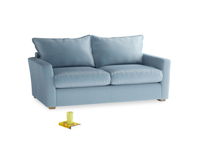 Medium Pavilion Sofa Bed in Chalky blue vintage velvet