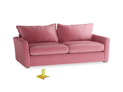 Large Pavilion Sofa Bed in Blushed pink vintage velvet